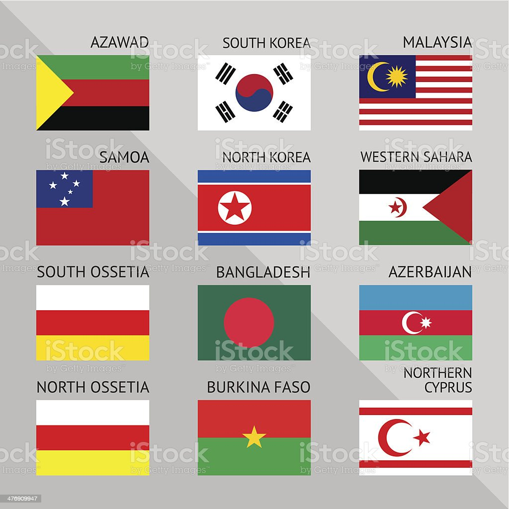 Flags of world 14 royalty-free stock vector art