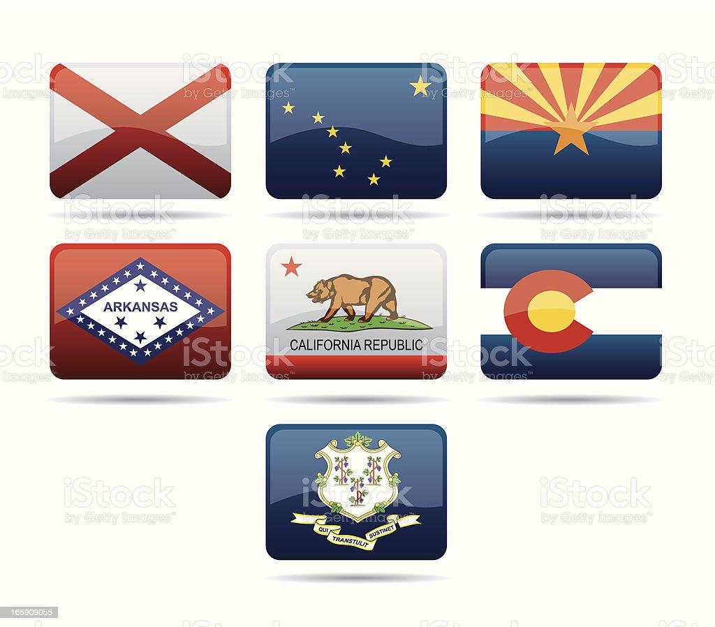 USA Flags royalty-free stock vector art