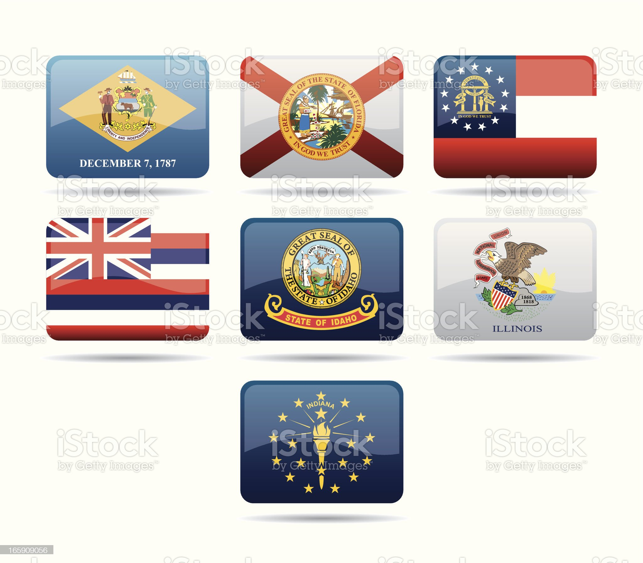 USA Flags royalty-free stock vector art