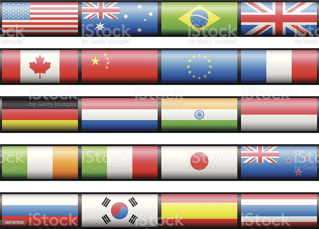 Flags royalty-free stock vector art