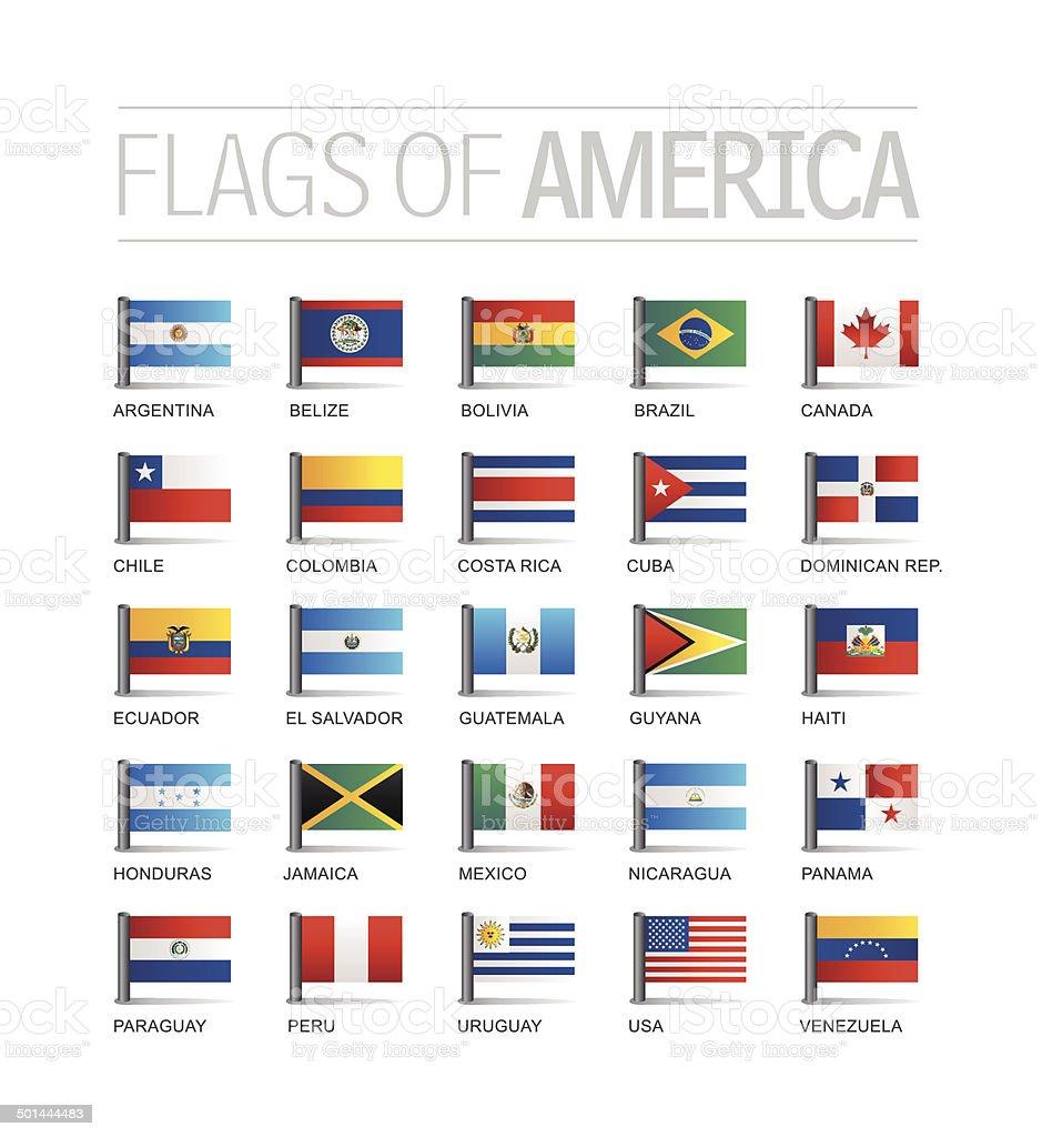 Flags vector art illustration