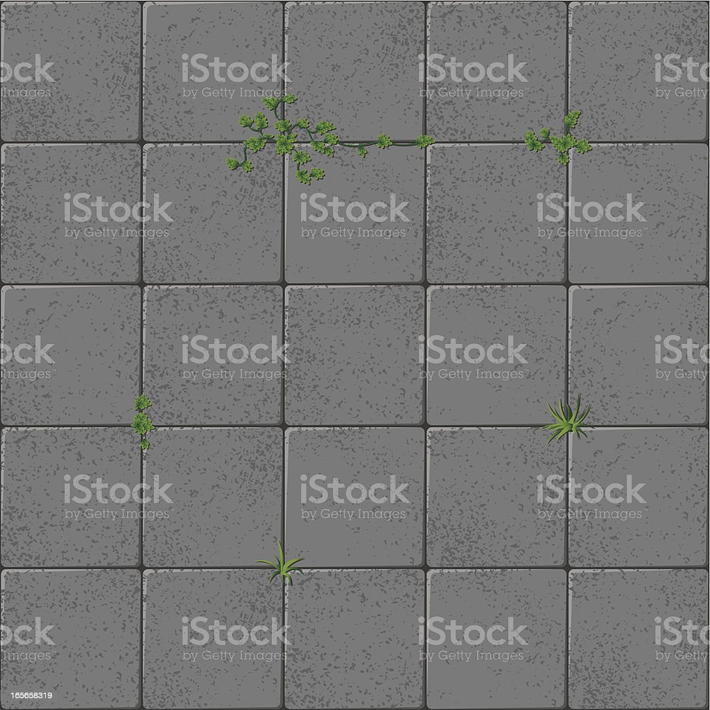 Flagstones and grass royalty-free stock vector art