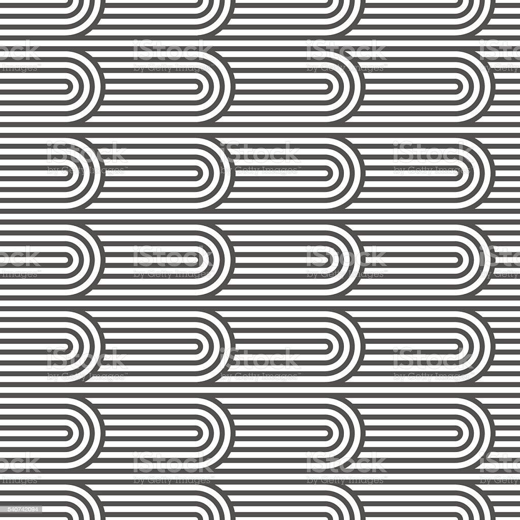 Flaked striped seamless pattern vector art illustration