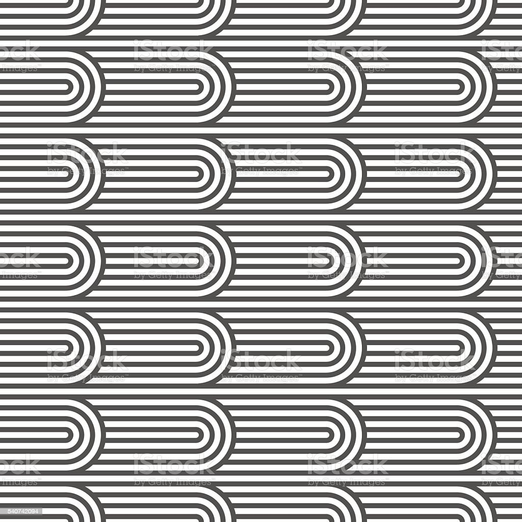 Flaked striped seamless pattern vector art illustration