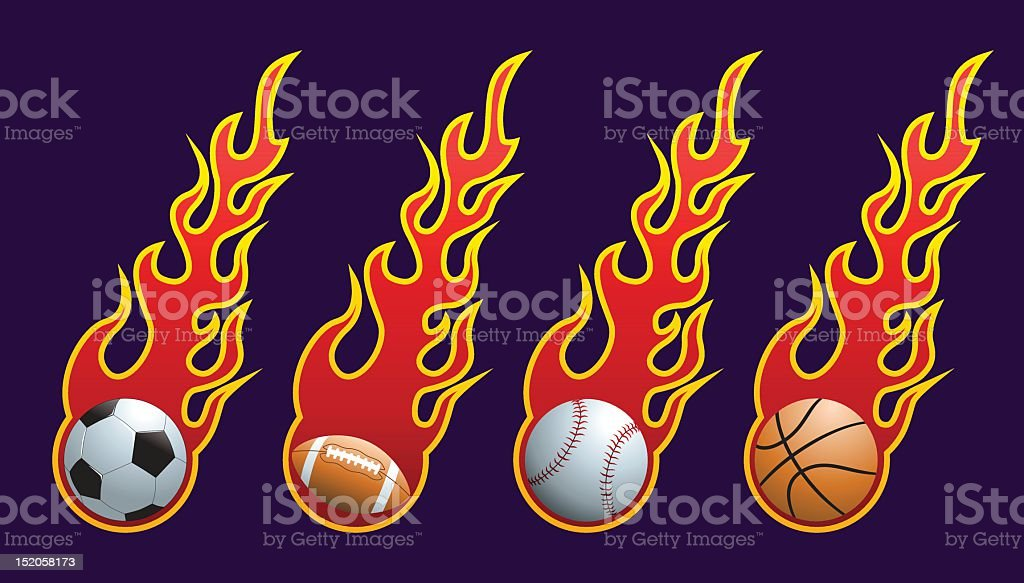 flame balls royalty-free stock vector art