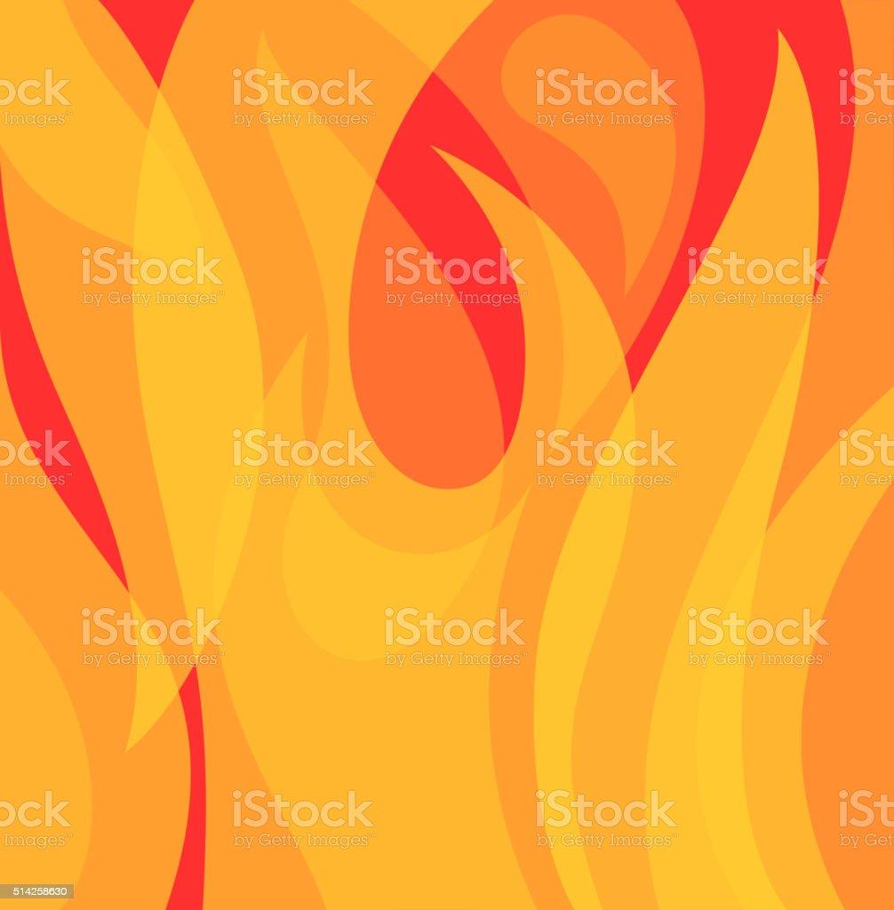 flame bg vector art illustration