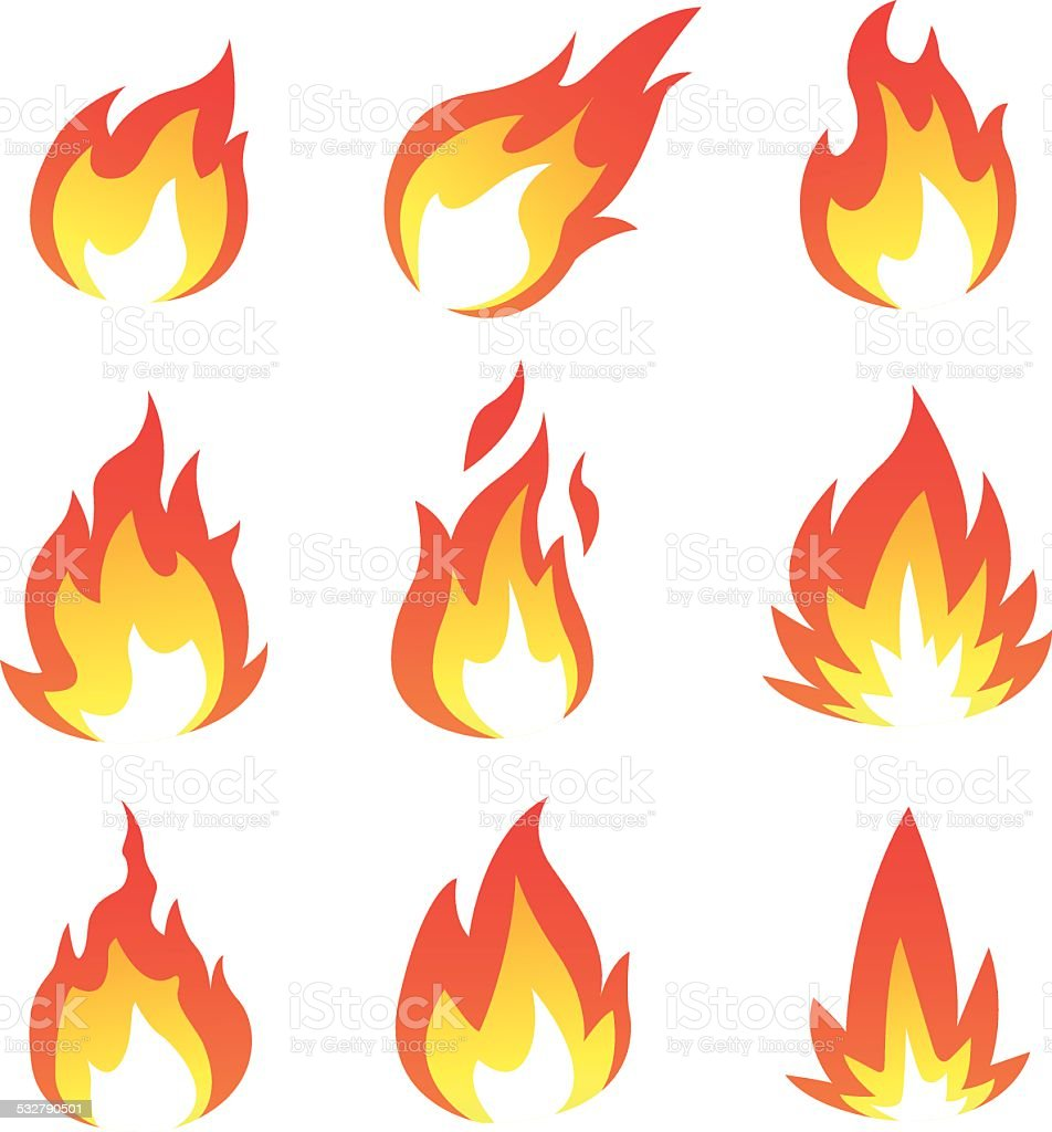 Flame collection royalty-free stock vector art