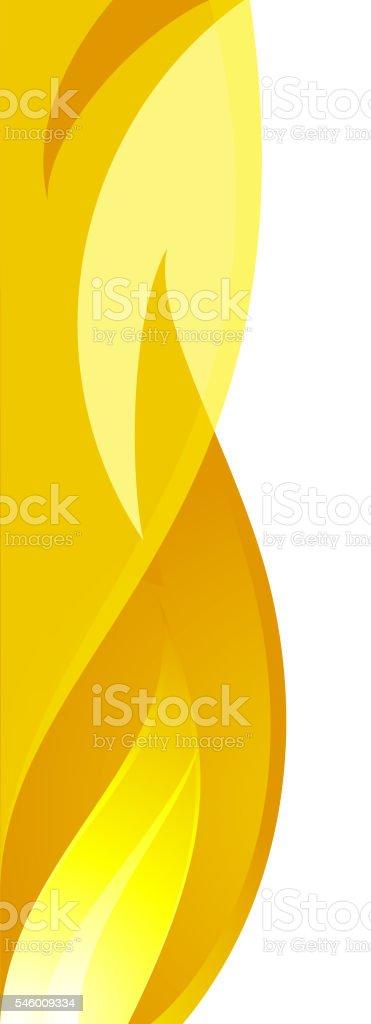 Flame design element vector art illustration