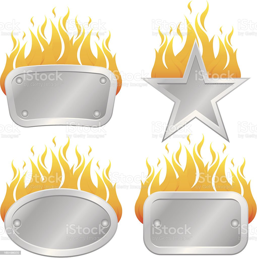 Flame Frames royalty-free stock vector art