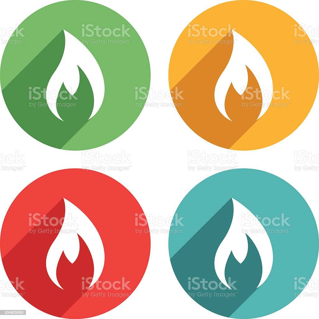 Flame icons - VECTOR vector art illustration