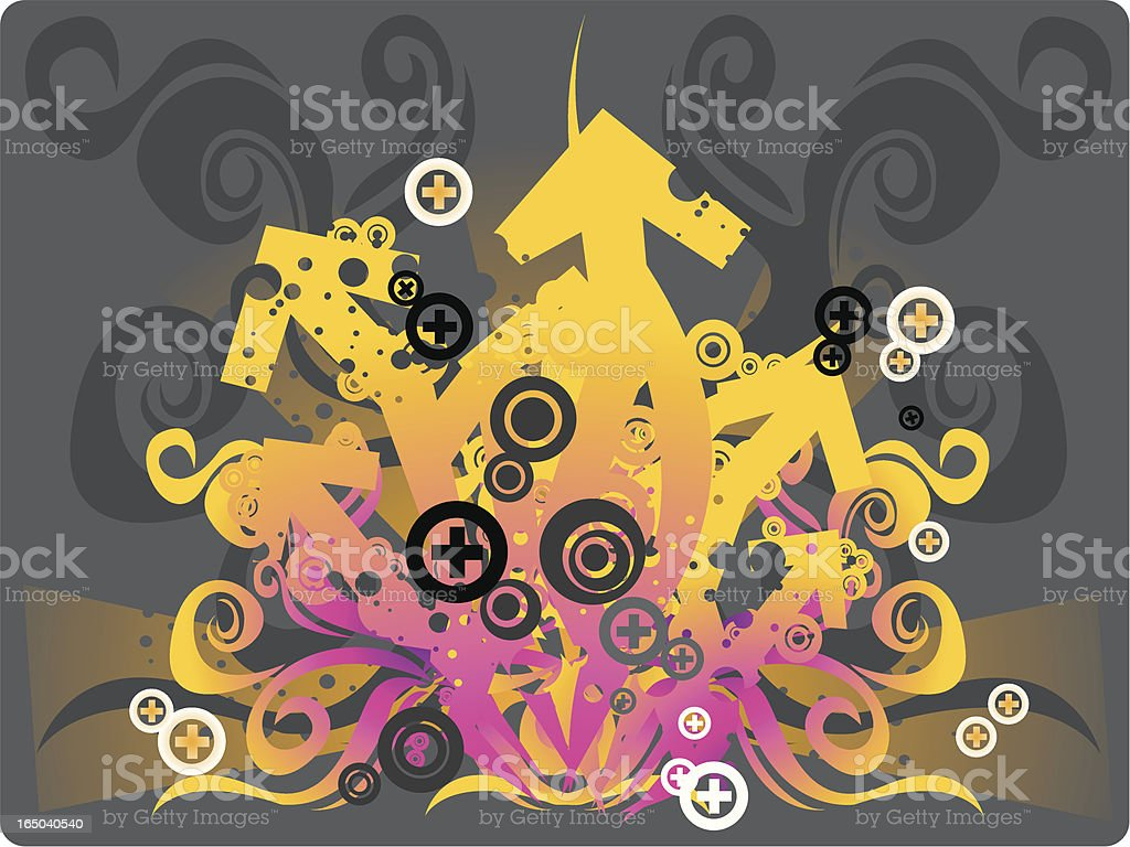 Flame of arrows royalty-free stock vector art
