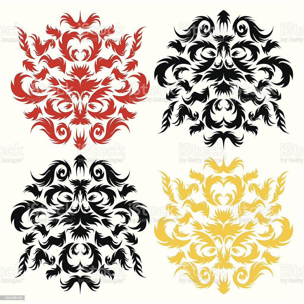 flame of fire elements royalty-free stock vector art