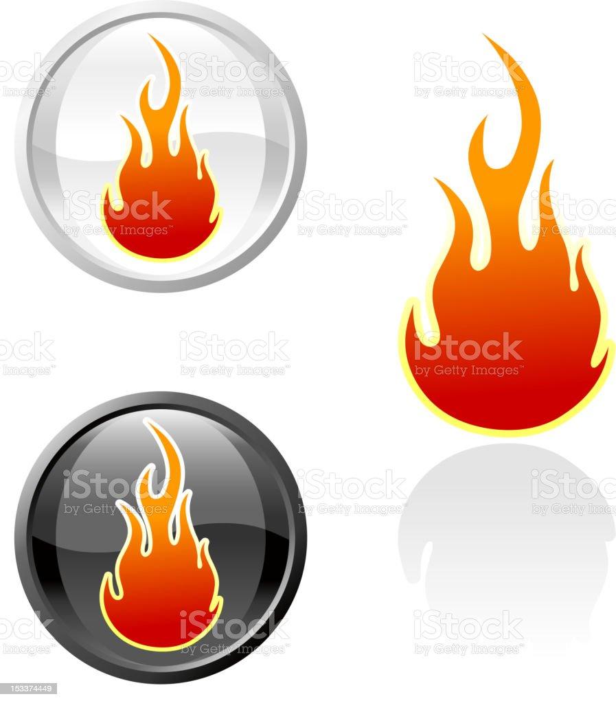 Flame tattoo royalty free vector art royalty-free stock vector art