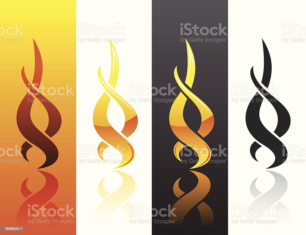Flame Twists royalty-free stock vector art