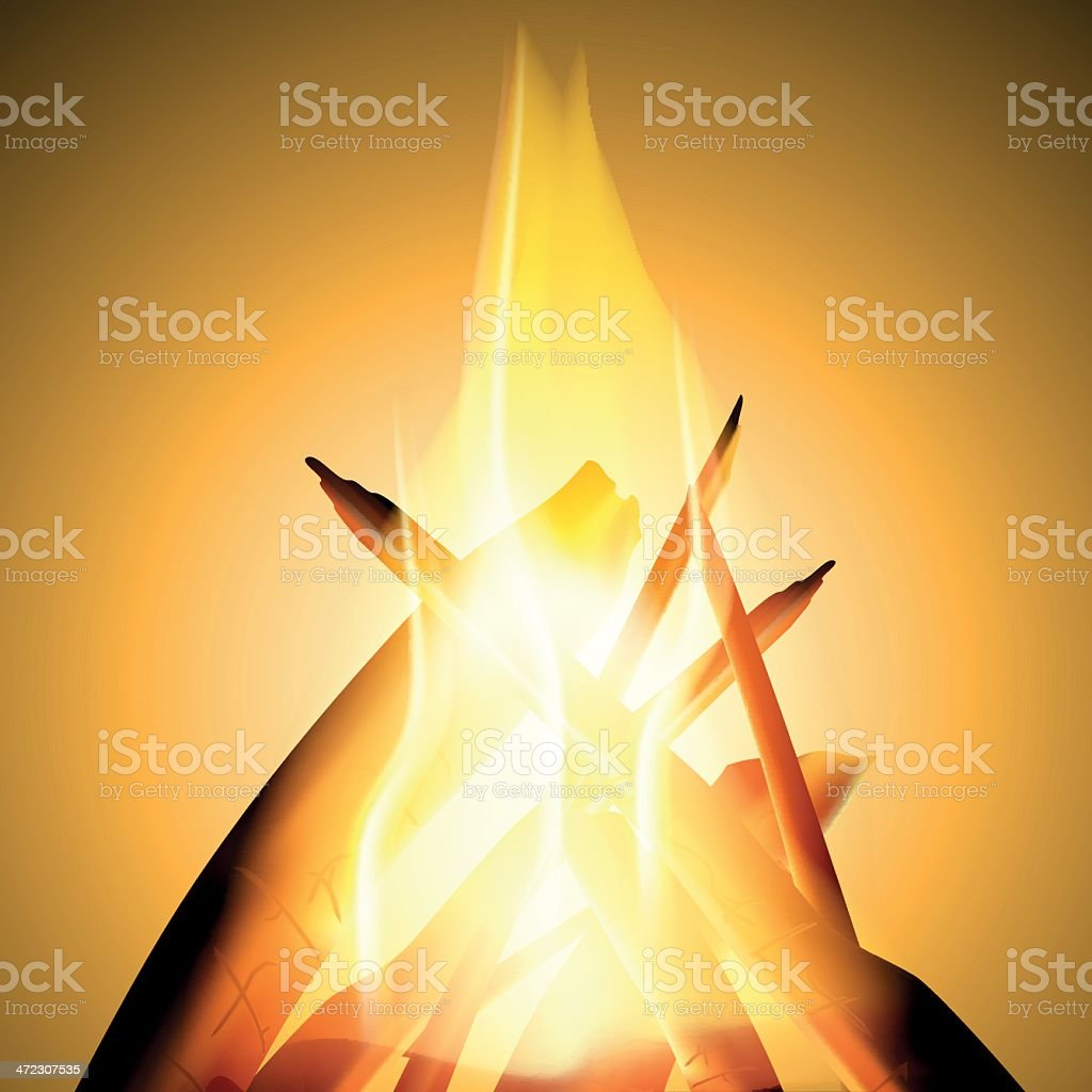 Flame, vector icon royalty-free stock vector art