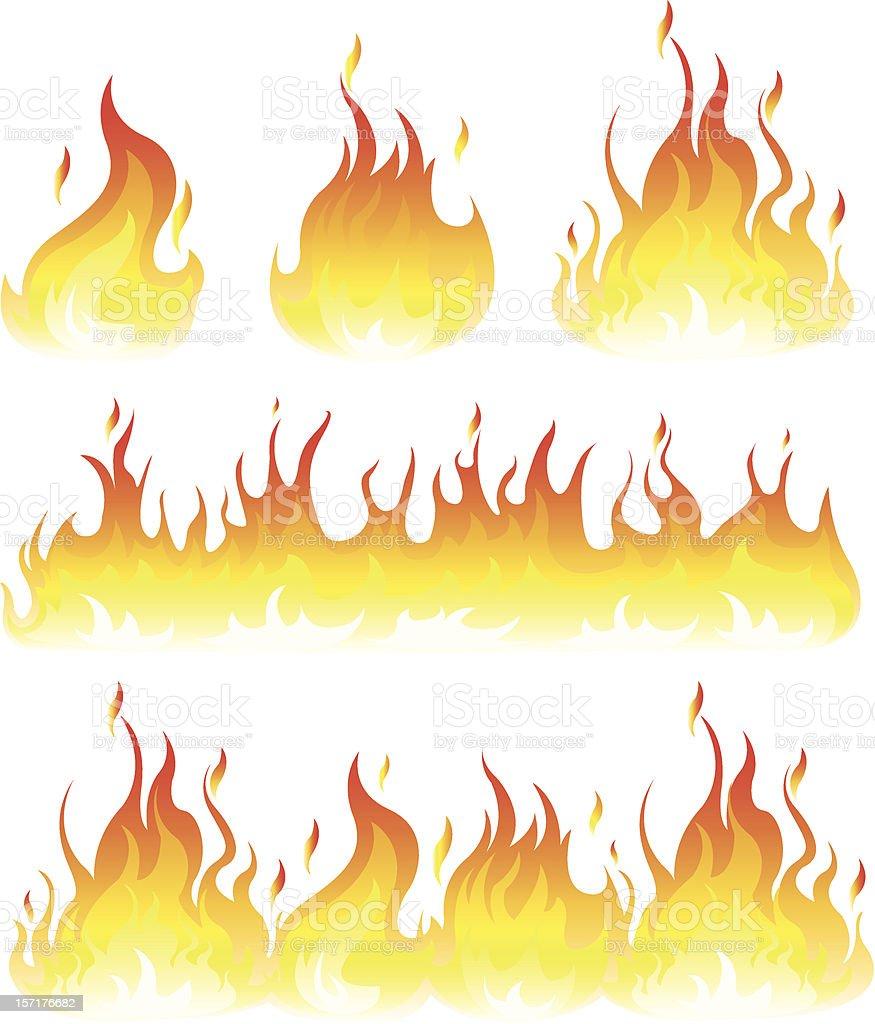 flame vector art illustration