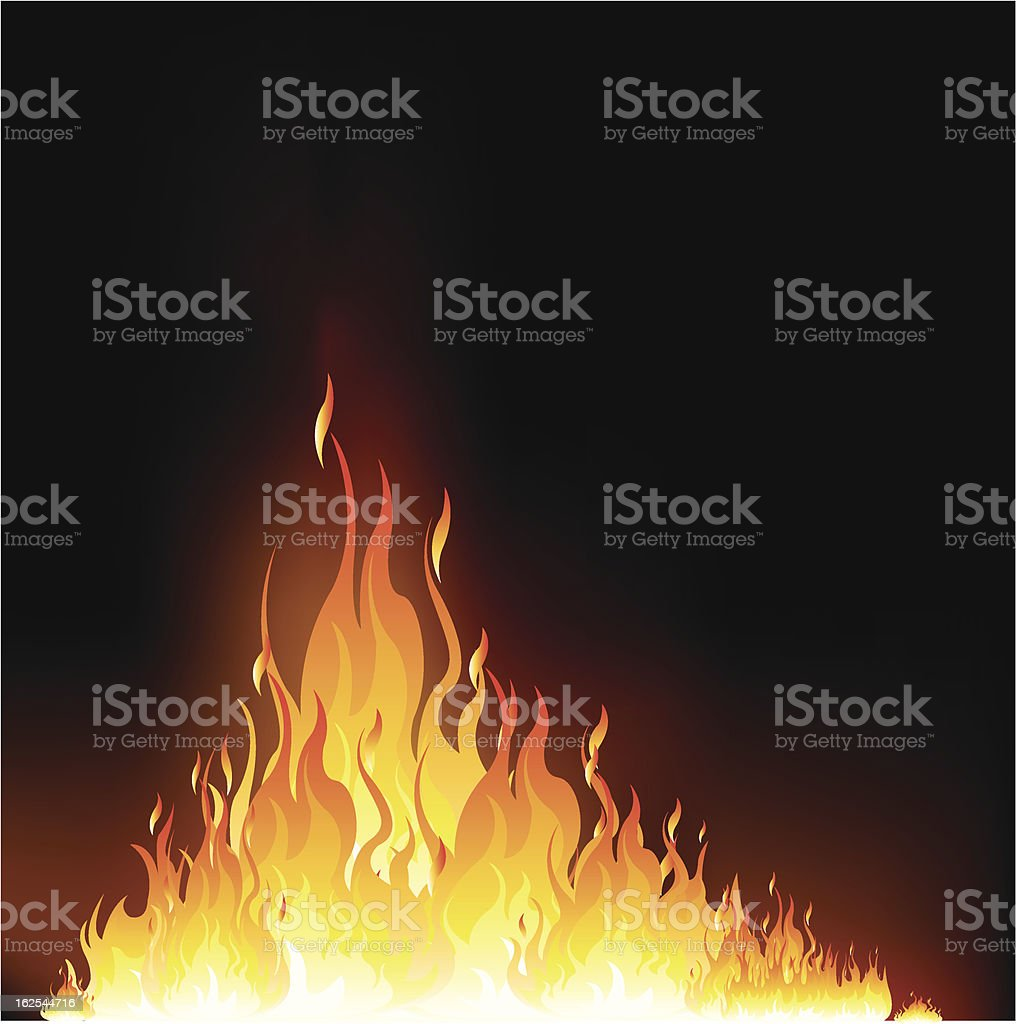 flame royalty-free stock vector art