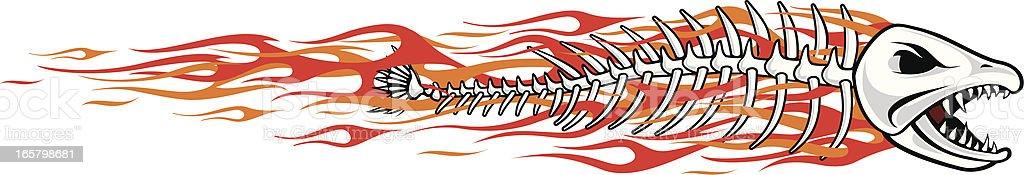 flamefish vector art illustration