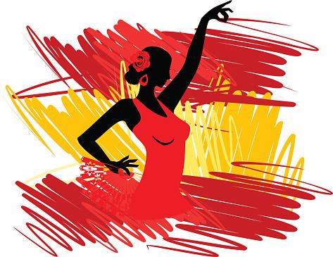 Spanish Culture Dance Clipart