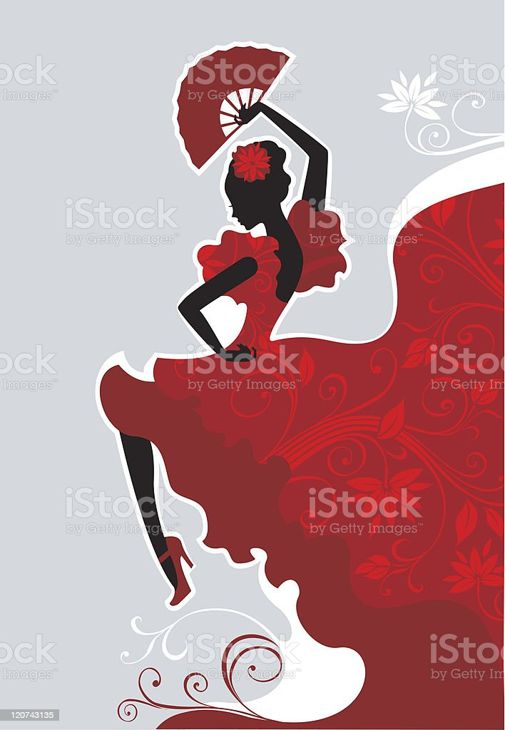 Flamenco dancer royalty-free stock vector art