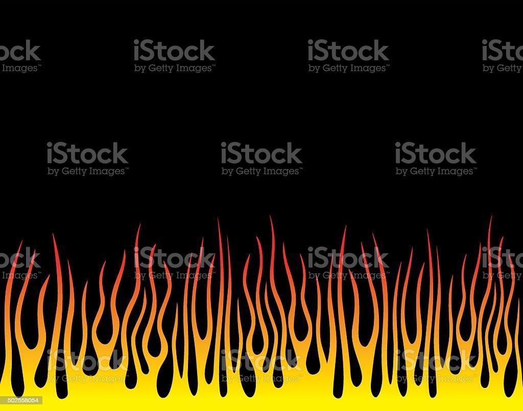 Flames Background vector art illustration