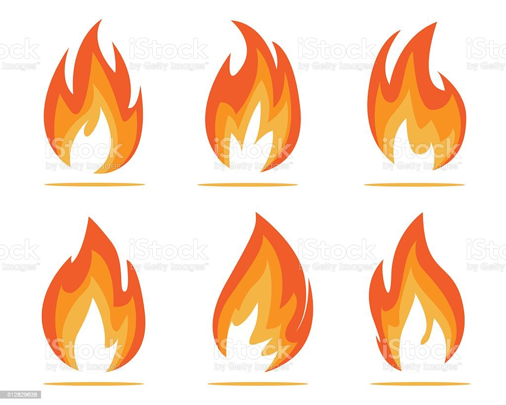 flames illustration vector art illustration