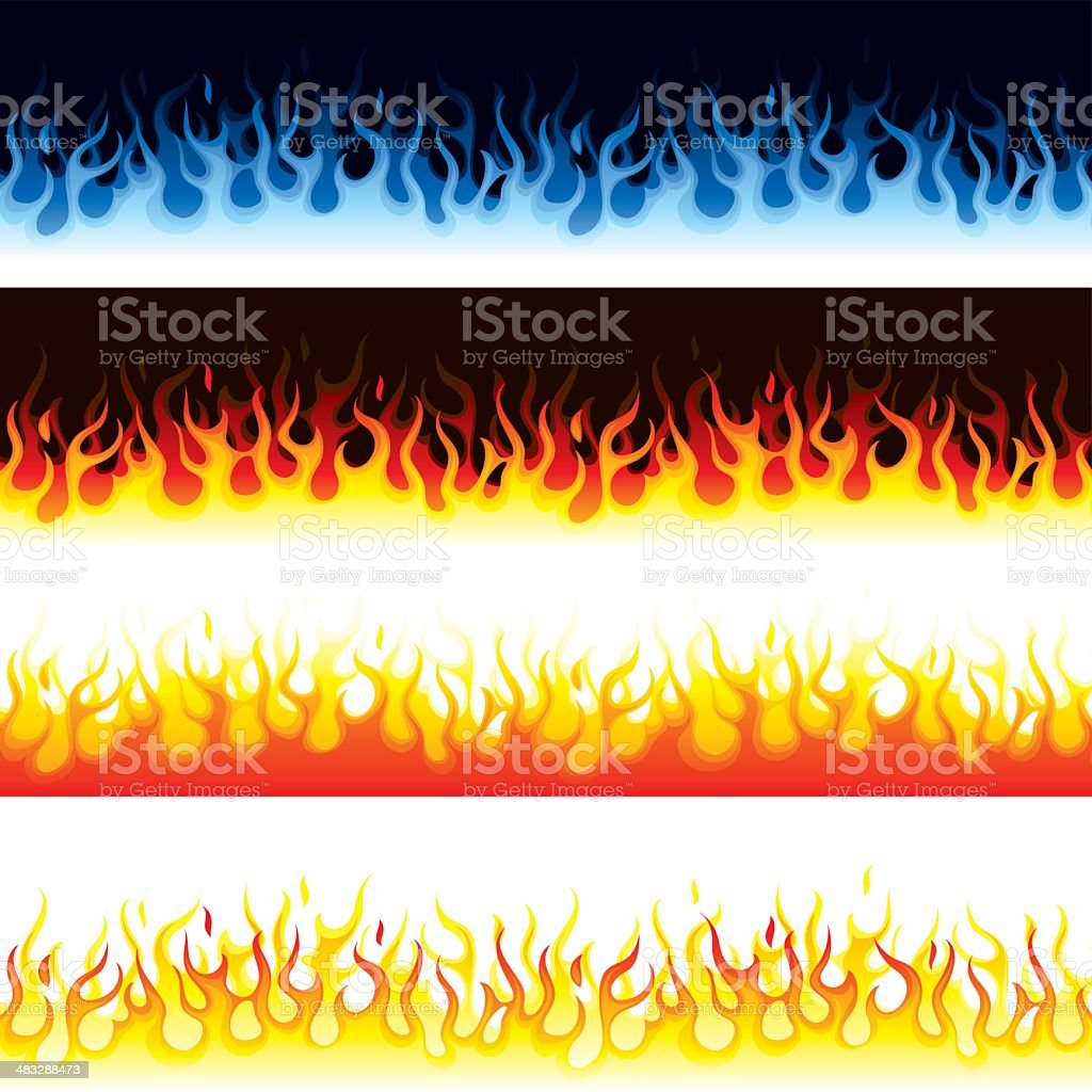 Flames vector art illustration