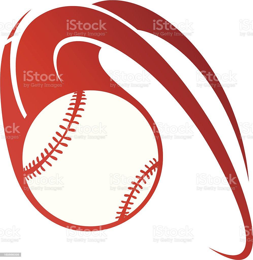 Flaming baseball royalty-free stock vector art