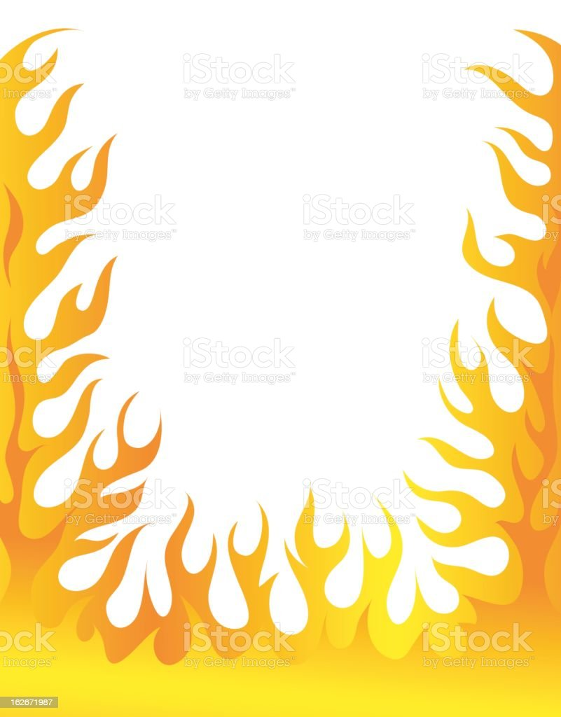 Flames white background border flame border w pictures to pin on - Flaming Border Royalty Free Stock Vector Art