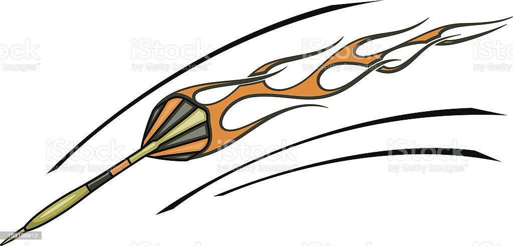 Flaming Dart (Vector) royalty-free stock vector art