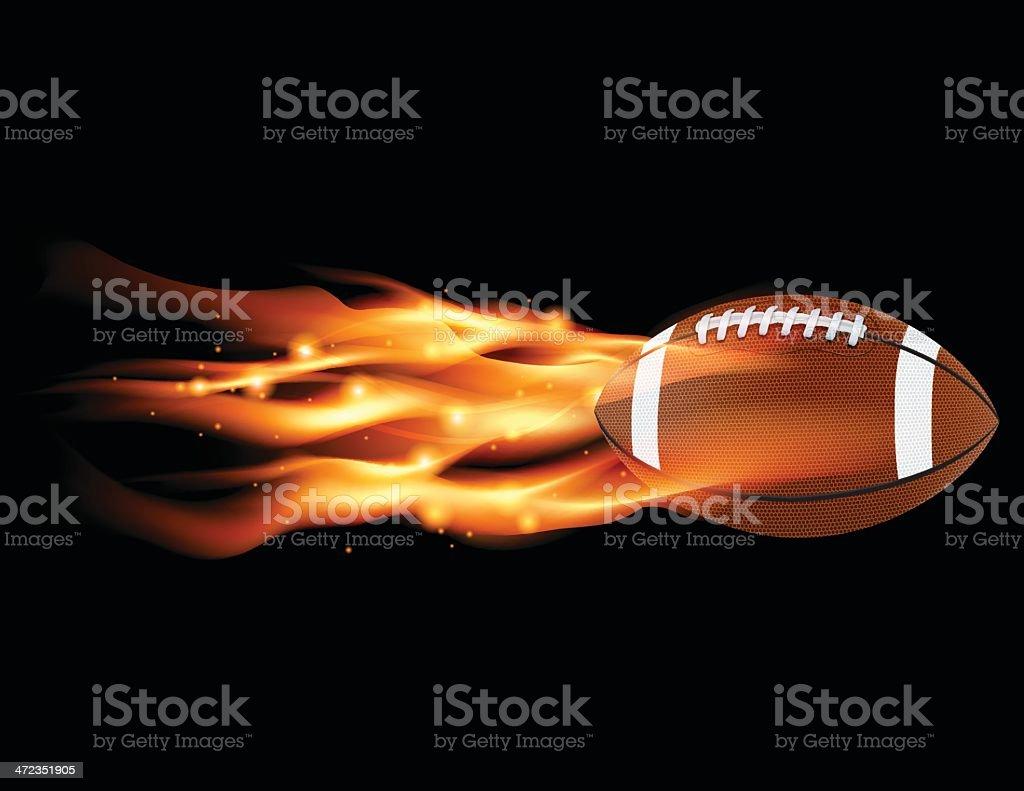 Flaming Football vector art illustration