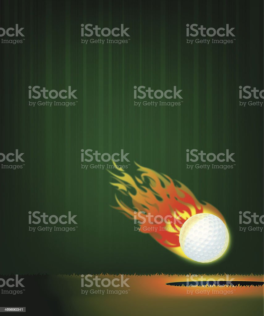 Flaming Golf Ball Background illustration. Check out my \'Golf\' light...