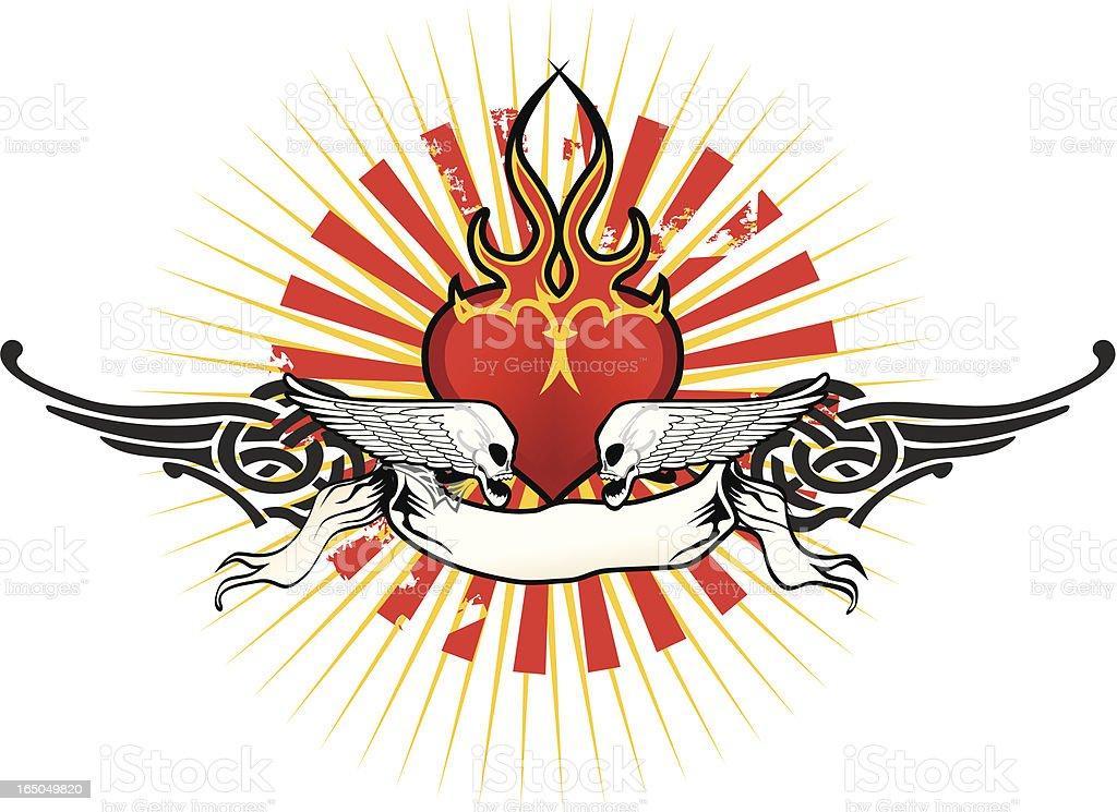 flaming heart symbol royalty-free stock vector art
