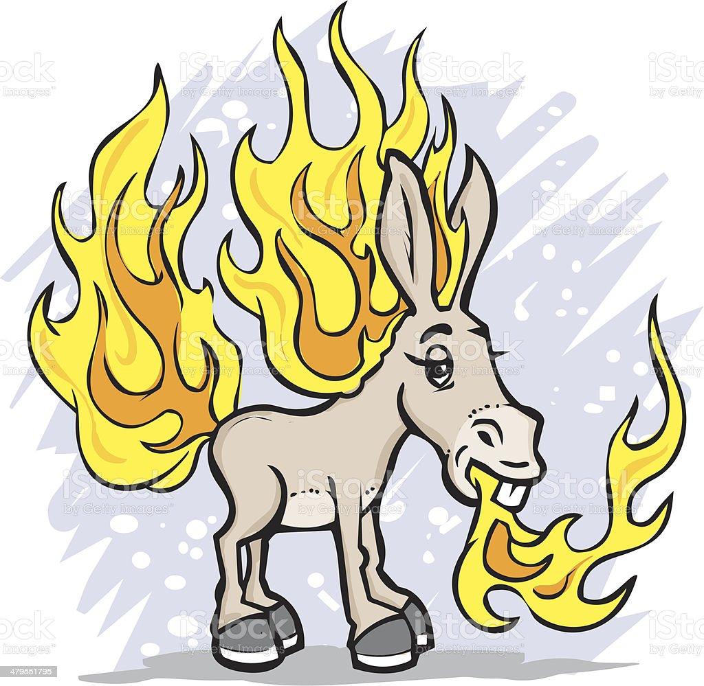 Flaming Jack Ass royalty-free stock vector art