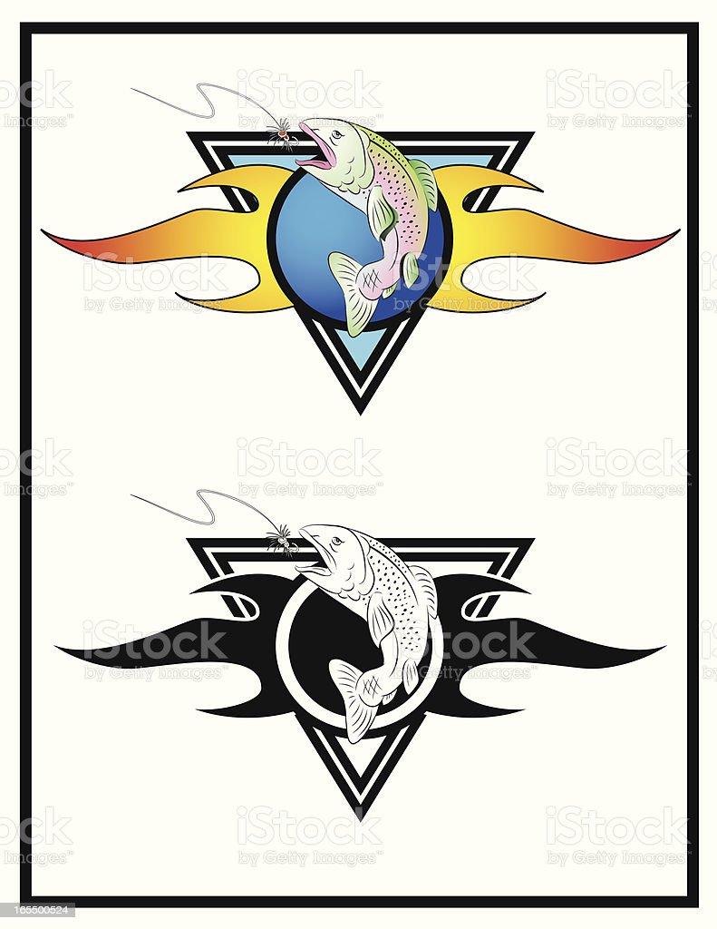 Flaming Rainbow vector art illustration