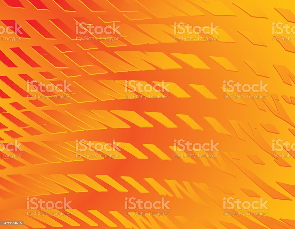 Flaming Tech Background royalty-free stock vector art