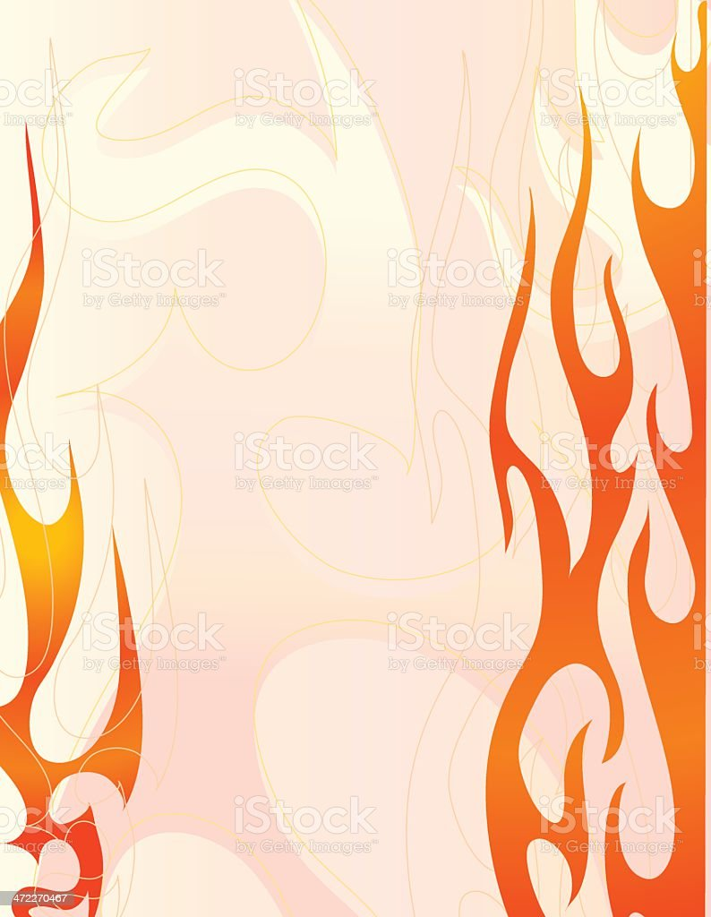 Flaming royalty-free stock vector art