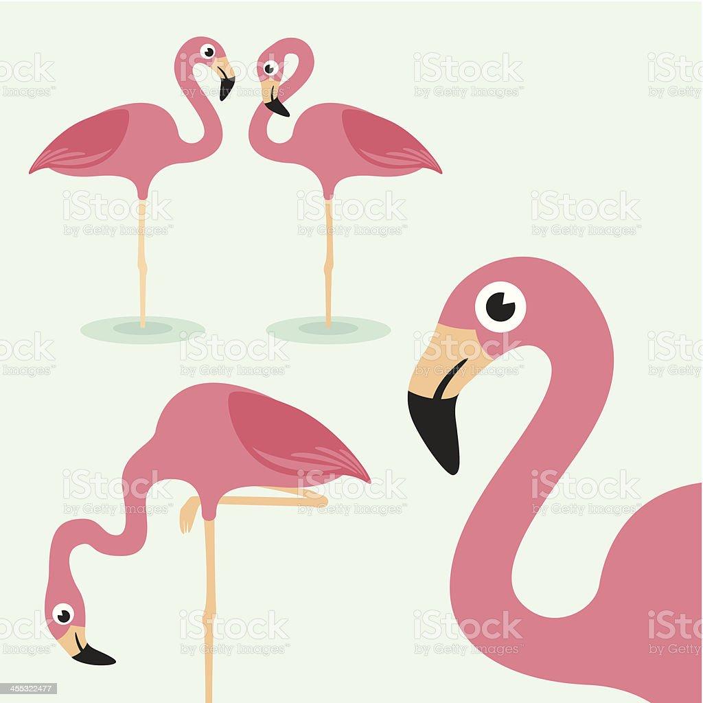 Flamingo vector art illustration