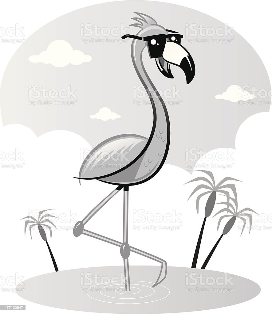 Flamingo royalty-free stock vector art