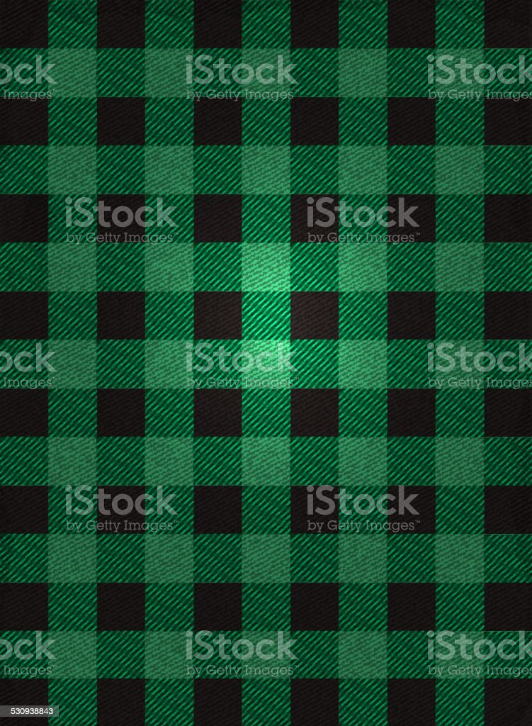 Flannel background design green and black check vector art illustration