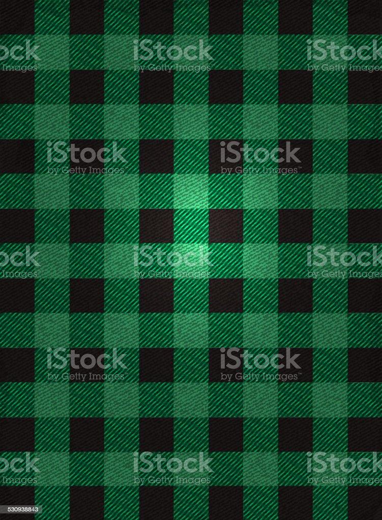 Flannel background design green and black check vector art illustration