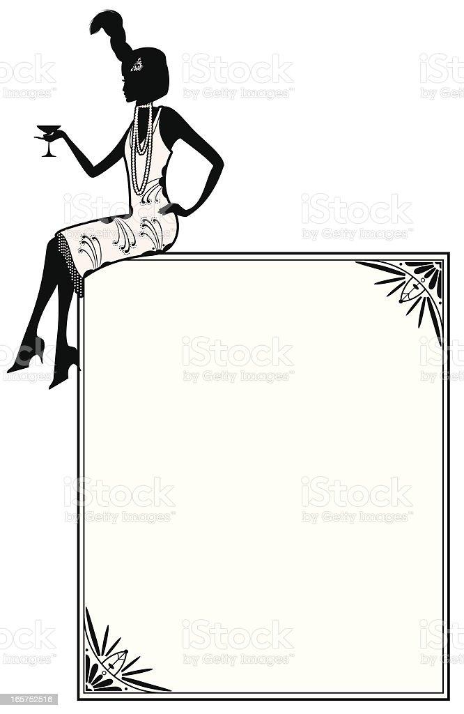 Flapper Girl vector art illustration