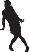 Flapper silhouette