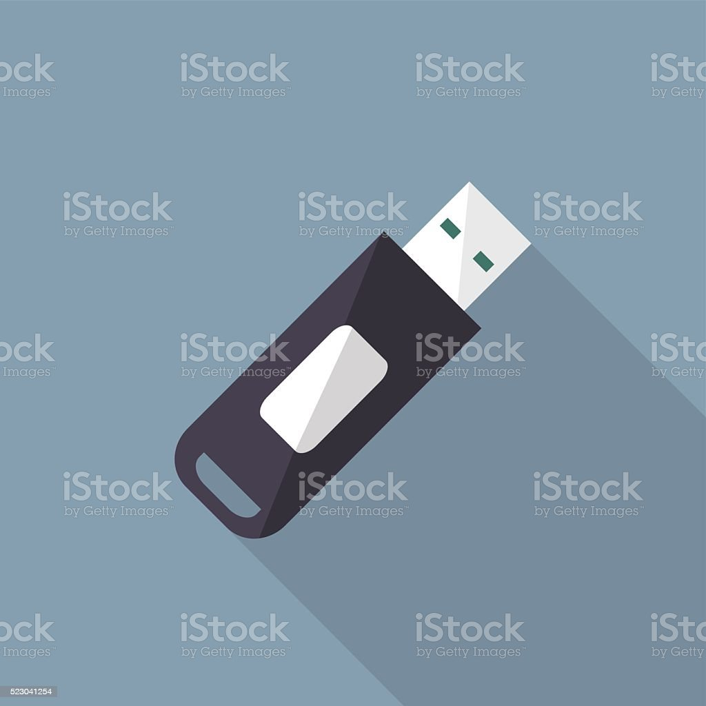 flash disk icon vector art illustration