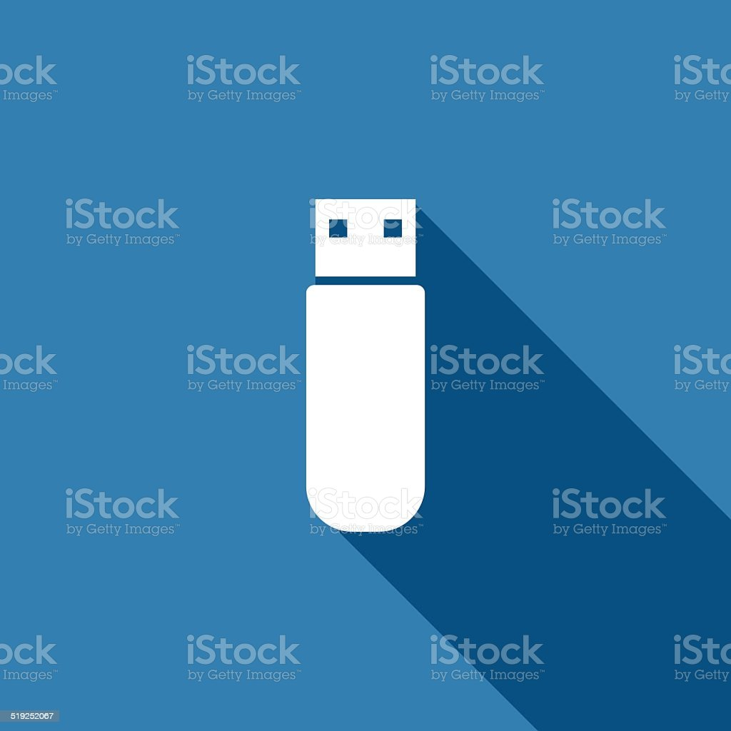 flash drive icon vector art illustration