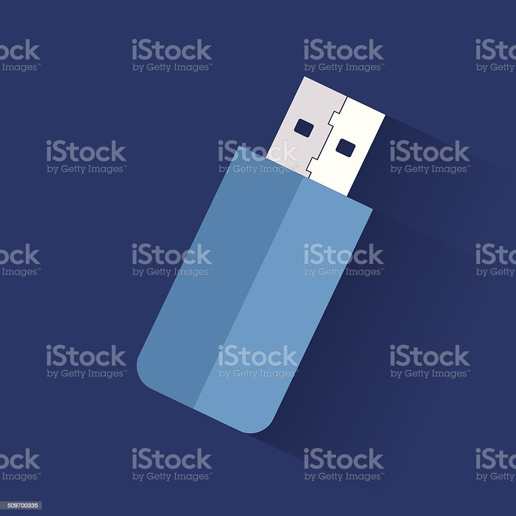 Flash drive symbol,clean vector vector art illustration