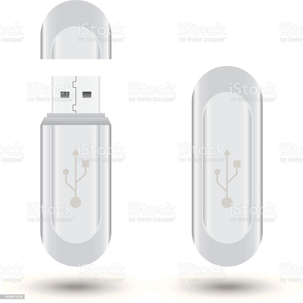 USB flash drive royalty-free stock vector art