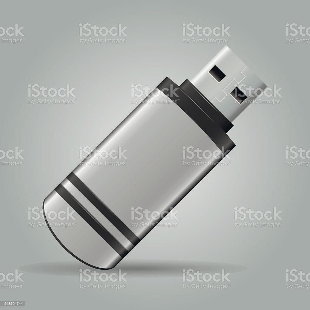 USB Flash Drive vector art illustration