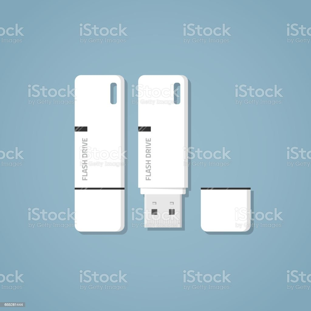 USB flash drive vector art illustration