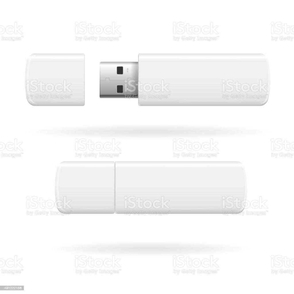 USB Flash Drive. Vector vector art illustration